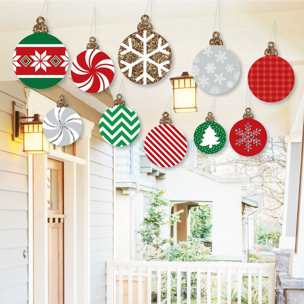 Hanging Christmas ornaments New Hanging ornaments Outdoor Christmas Porch & Tree Yard Of Luxury 45 Pictures Hanging Christmas ornaments