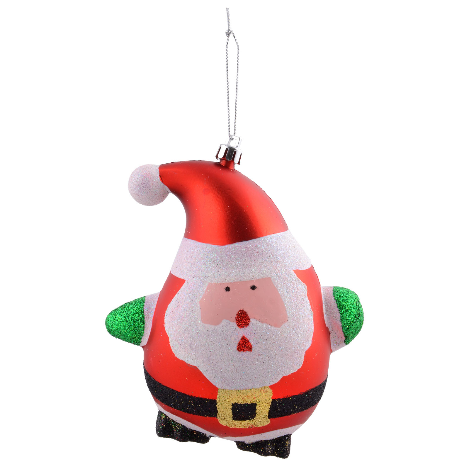 Red Glitter Santa Hanging Christmas Tree Decorations