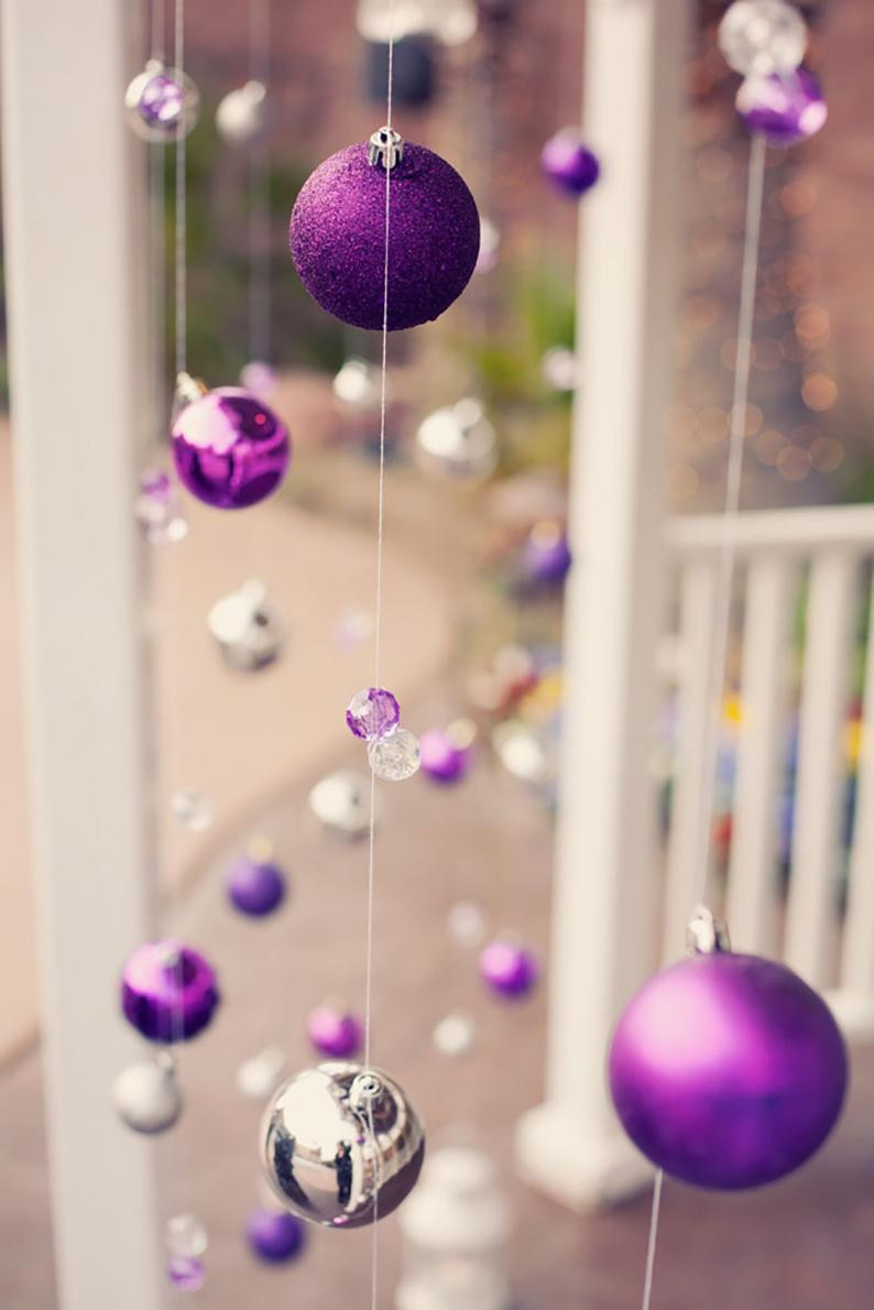 Hanging Christmas ornaments Unique Stunning Purple Christmas Decor Ideas for A Royal Celebration Of Luxury 45 Pictures Hanging Christmas ornaments