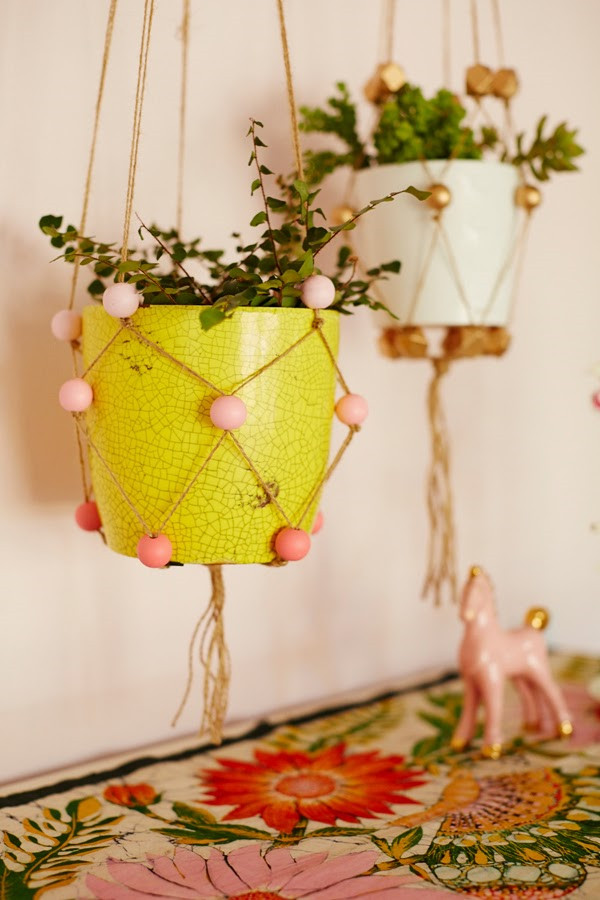 Hanging Plant Holders Awesome Diy Beaded Plant Hangers Of Wonderful 48 Ideas Hanging Plant Holders