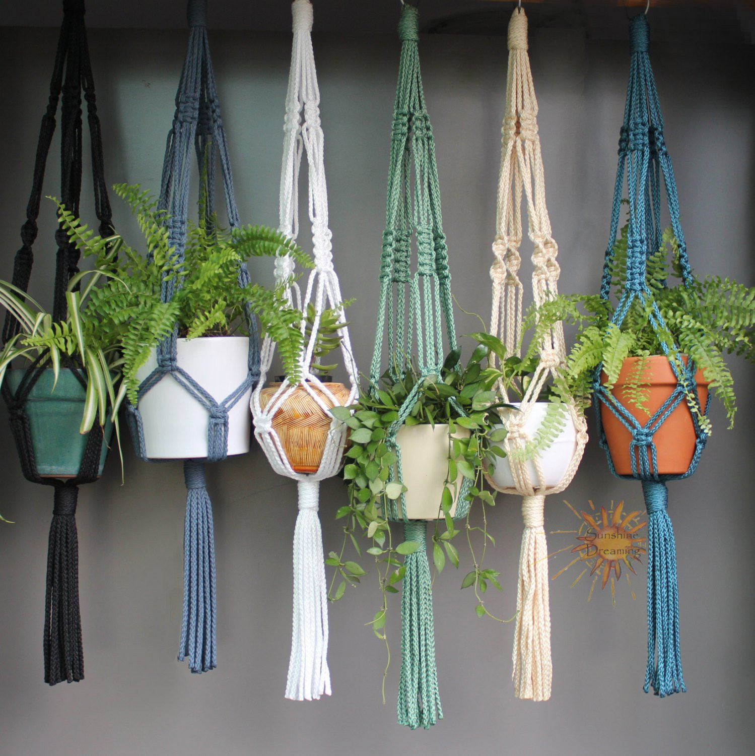 Hanging Plant Holders Beautiful Macramé Plant Hangers In assorted Neutral Colours Of Wonderful 48 Ideas Hanging Plant Holders