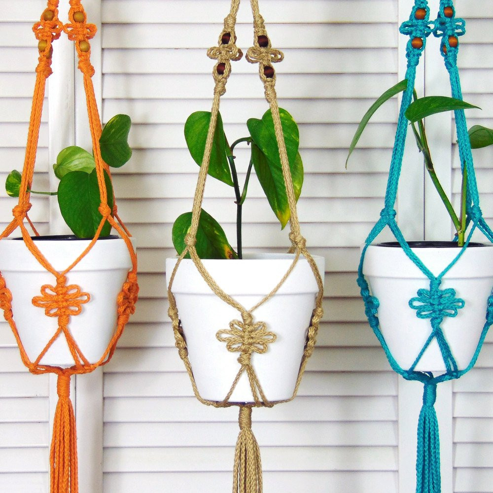 Hanging Plant Holders Elegant Jute Hanging Planter Macrame Pot Holder Modern Macrame Of Wonderful 48 Ideas Hanging Plant Holders