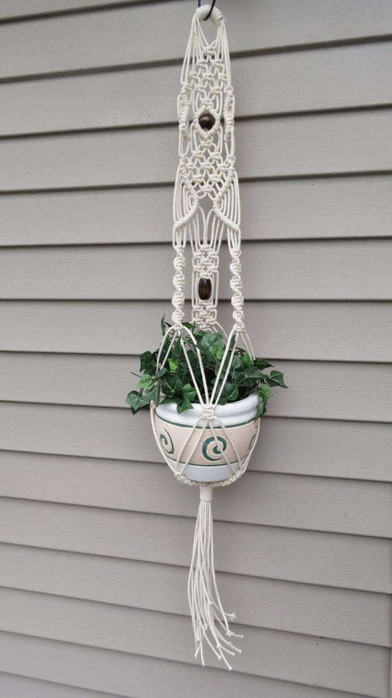 Hanging Plant Holders Lovely Macrame Plant Hanger Modern Hanging Planter White by Of Wonderful 48 Ideas Hanging Plant Holders