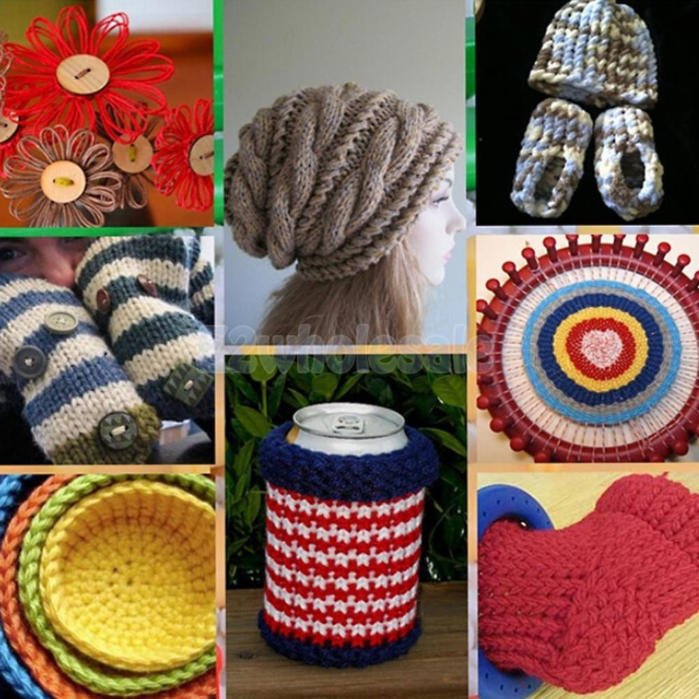 Hat Loom Awesome Set Of 4 Size Round Circle Diy Scarf Shawl Hat Yarn Of Amazing 48 Pictures Hat Loom