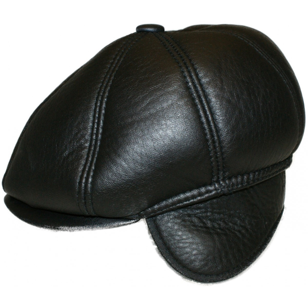 newsboy cap with ear flaps faux leather