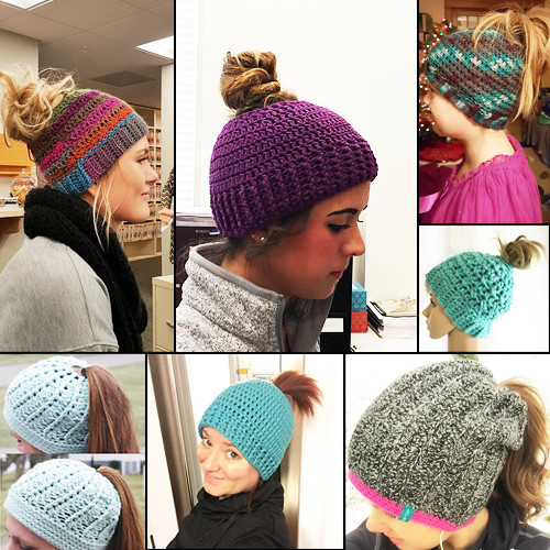 Crochet Hat Pattern With Ponytail Hole Pakbit for