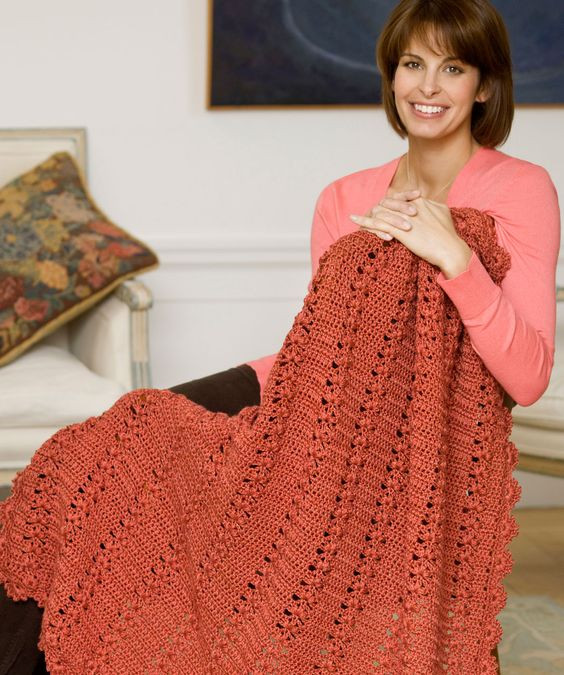 Heart Afghan Crochet Pattern Awesome Trefoil Throw Of Top 48 Models Heart Afghan Crochet Pattern