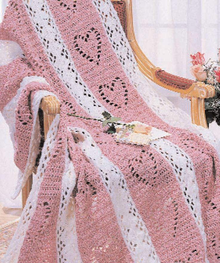 Free Crochet Afghan Patterns With Hearts Dancox for