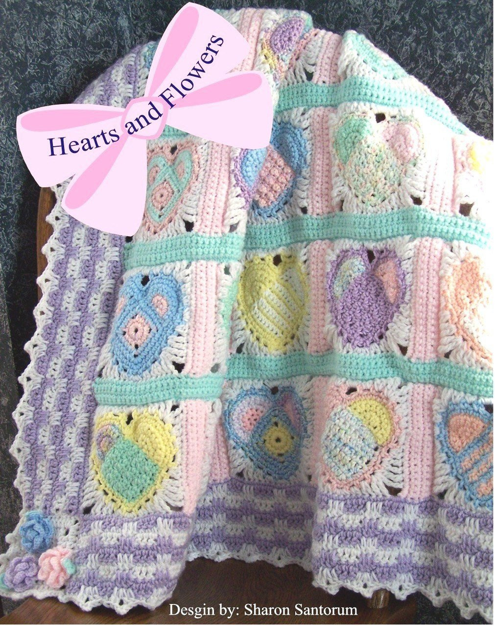 Heart Afghan Crochet Pattern New Hearts and Flowers Baby Afghan or Blanket Crochet Pattern Pdf Of Top 48 Models Heart Afghan Crochet Pattern