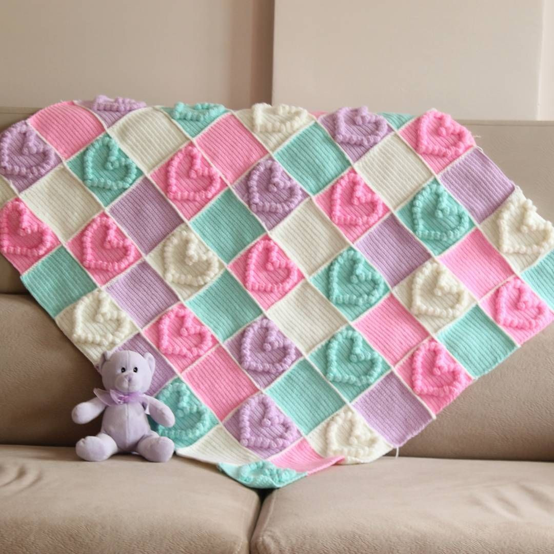 Heart Baby Blanket Crochet Pattern Best Of Crochet Patterns Free Stitches Pinterest Of Gorgeous 43 Ideas Heart Baby Blanket Crochet Pattern