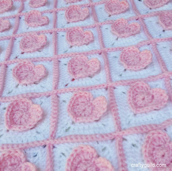 Heart Baby Blanket Luxury 3d Heart Granny Square Baby Blanket Free Crochet Pattern Of Adorable 45 Pictures Heart Baby Blanket