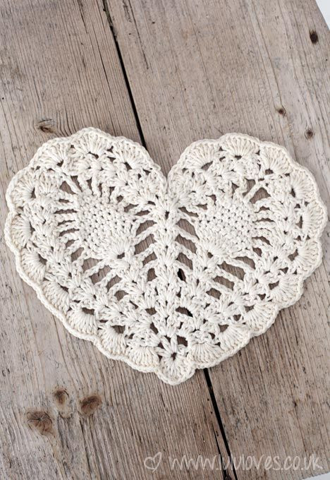 Heart Doilies Awesome Doilies Haakwerk and Hart On Pinterest Of Marvelous 46 Photos Heart Doilies