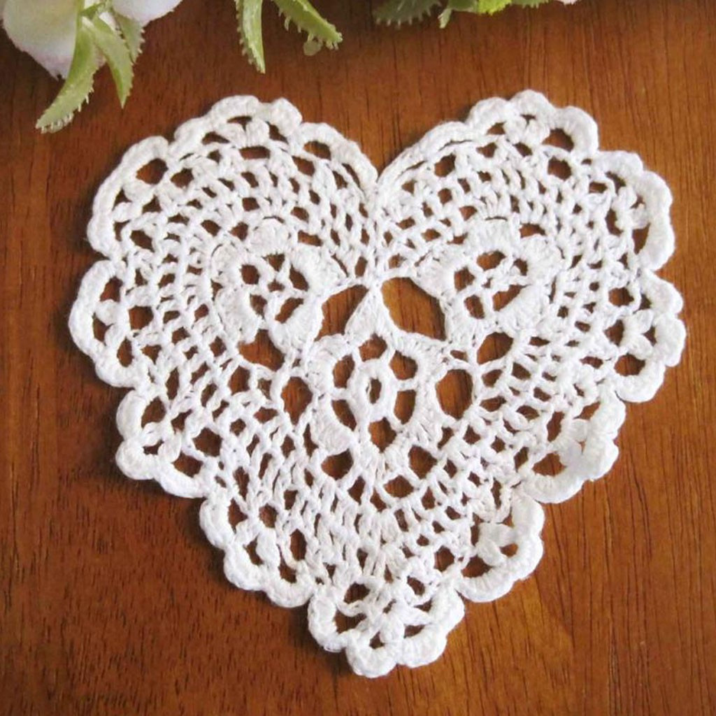 Heart Doilies Awesome Heart Crochet Doily Of Marvelous 46 Photos Heart Doilies