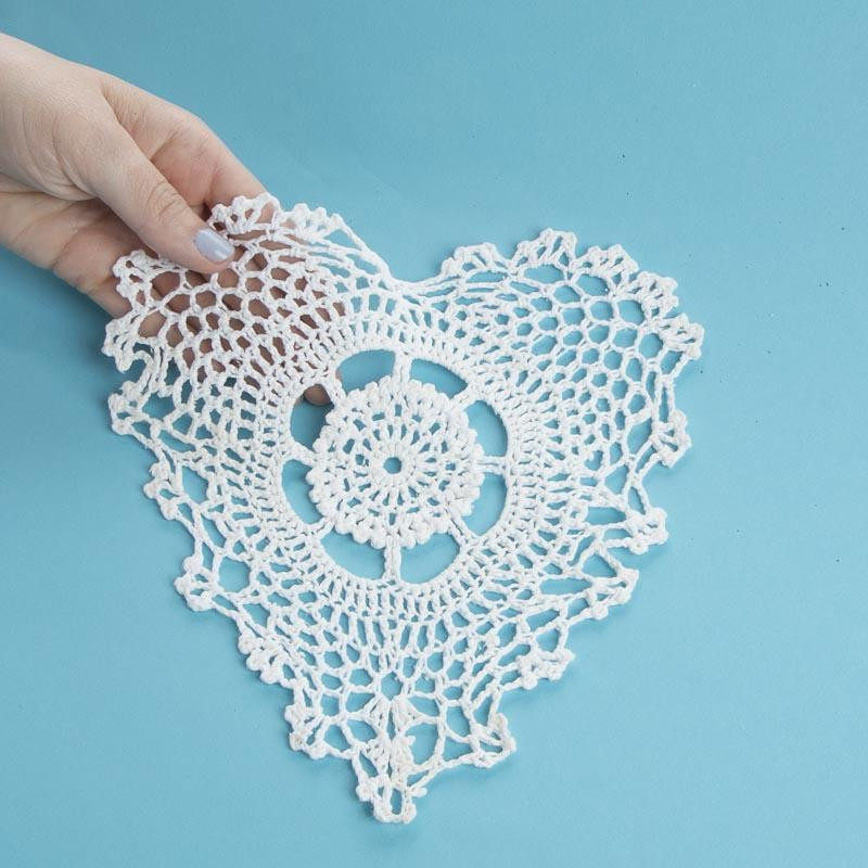 Heart Doilies Best Of White Heart Crocheted Doily Crochet and Lace Doilies Of Marvelous 46 Photos Heart Doilies