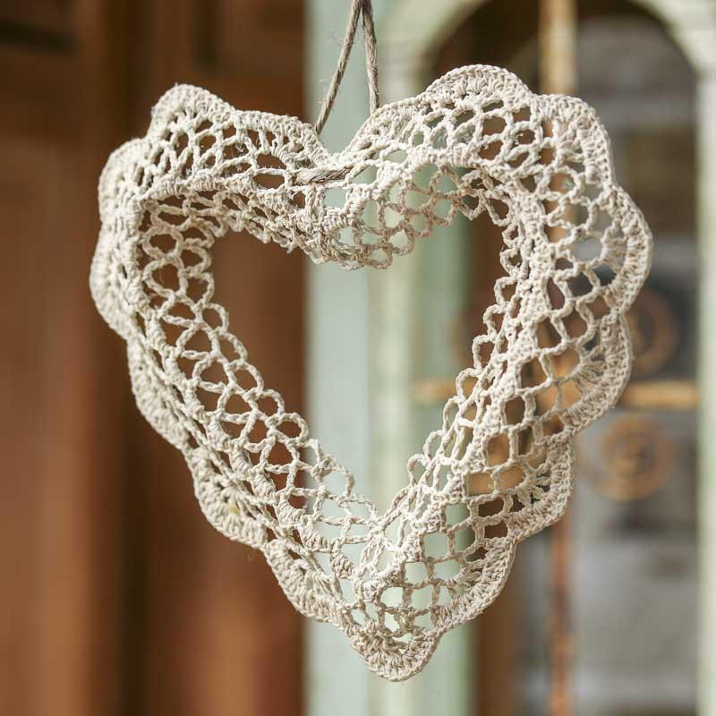 Crocheted Doily Heart Crochet and Lace Doilies Home Decor
