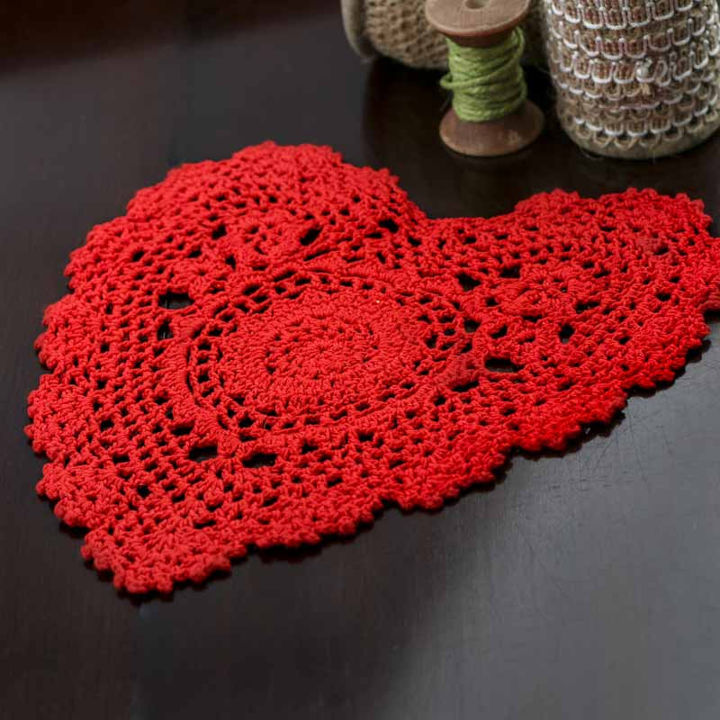 Heart Doilies Inspirational Red Heart Crocheted Doily Valentine S Day Holiday Crafts Of Marvelous 46 Photos Heart Doilies