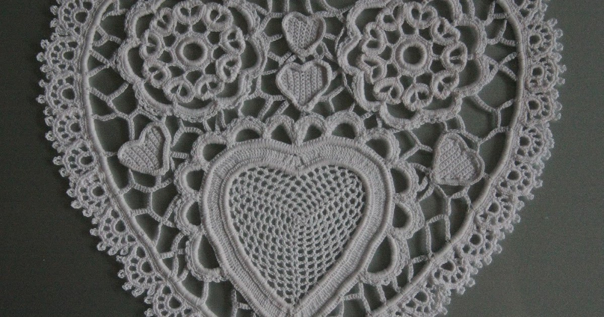 Heart Doilies Inspirational the Laboratory Paper Heart Doily In Irish Crochet Of Marvelous 46 Photos Heart Doilies