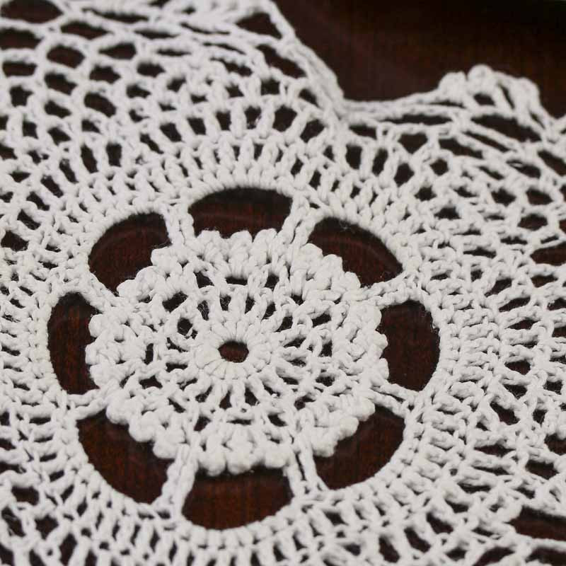 White Heart Crocheted Doily Crochet and Lace Doilies
