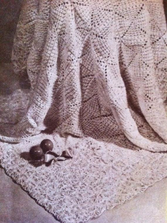1940s design Heirloom baby blanket pattern Australian