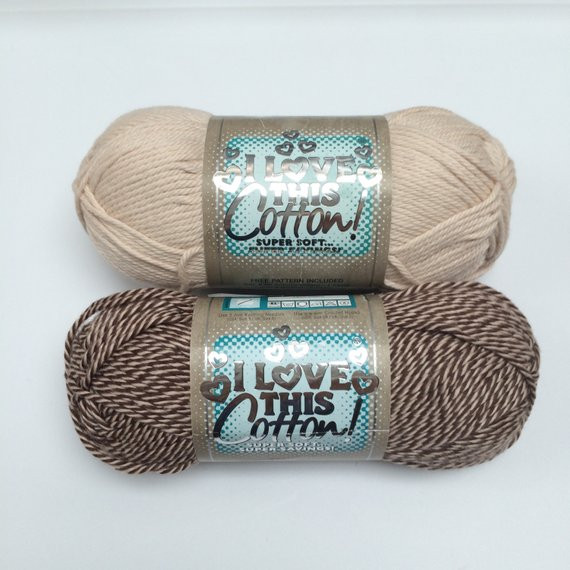 Antique CREAM Solid and Monkey BROWN Twist Cream Taupe