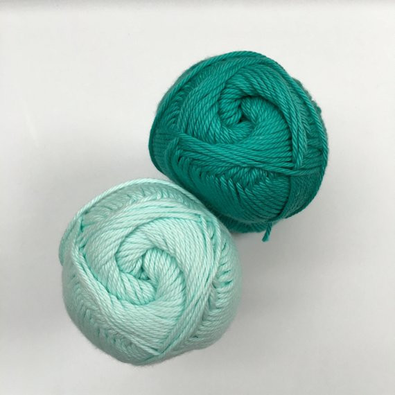 """ASPYN and MINT Green Solid """"I Love This Cotton"""" Yarn by"""