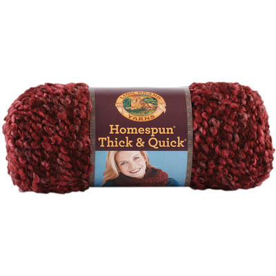 Homespun Thick & Quick Yarn Claret