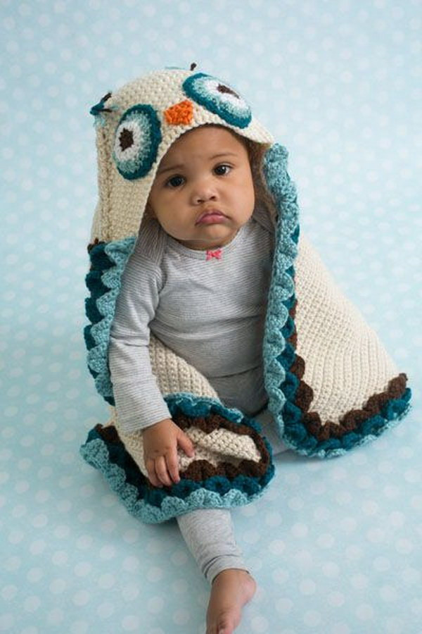Hooded Baby Blanket Awesome 20 Adorable Crochet Patterns for Babies 2017 Of Hooded Baby Blanket New Crocheted Hooded Baby Blanket Ideas 7 Nationtrendz