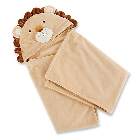 Baby Blankets Baby Aspen Lion Hooded Blanket in Tan
