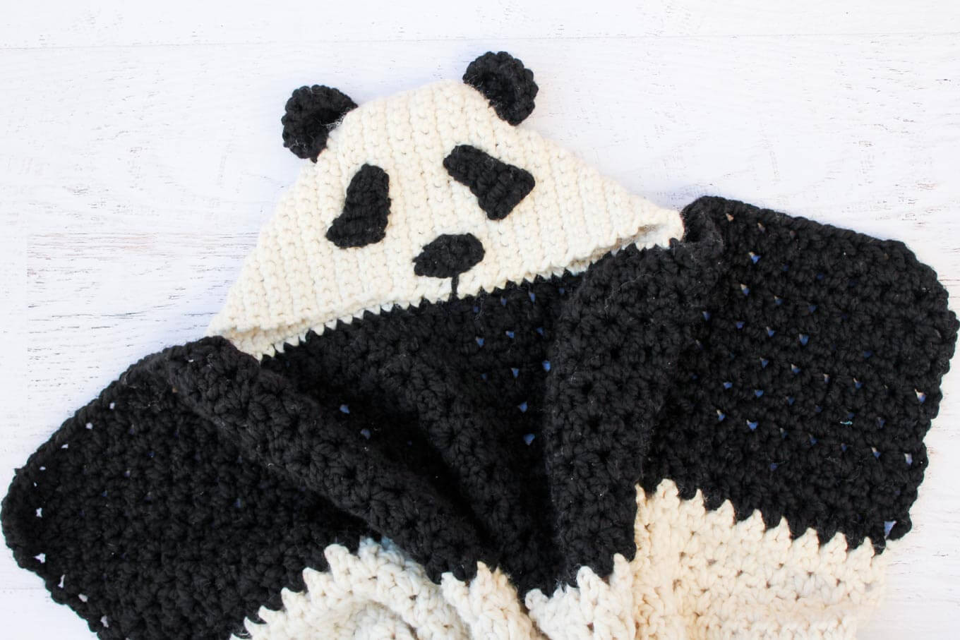 Hooded Baby Blanket Luxury Crochet Panda Hooded Baby Afghan Free Pattern Make Of Contemporary 45 Ideas Hooded Baby Blanket