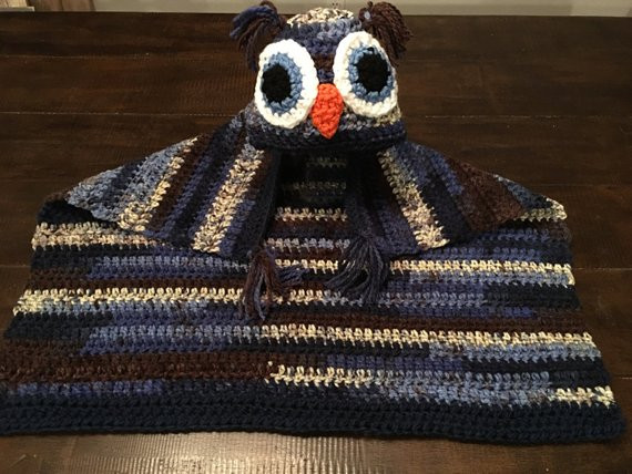 Hooded Owl Blanket Awesome Adorable Hooded Owl Crochet Baby Blanket Of New 47 Images Hooded Owl Blanket