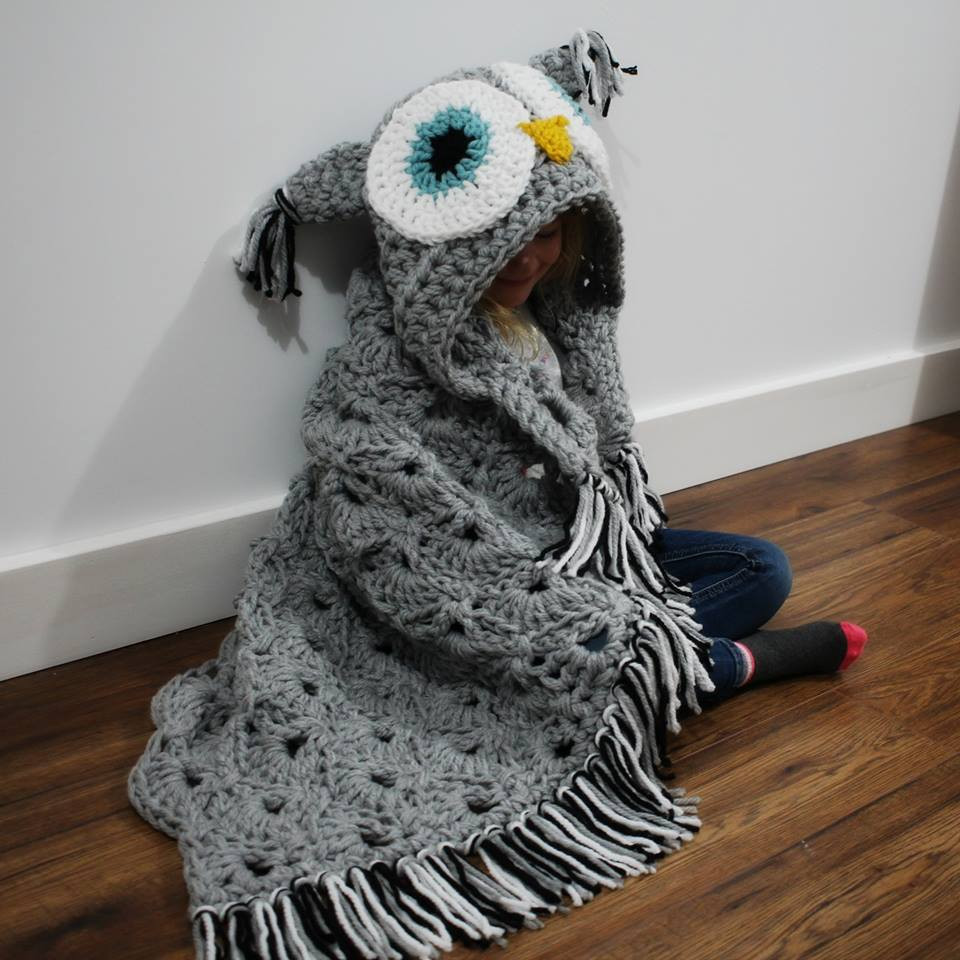 Hooded Owl Blanket Awesome Crochet Hooded Owl Blanket Pattern Of New 47 Images Hooded Owl Blanket