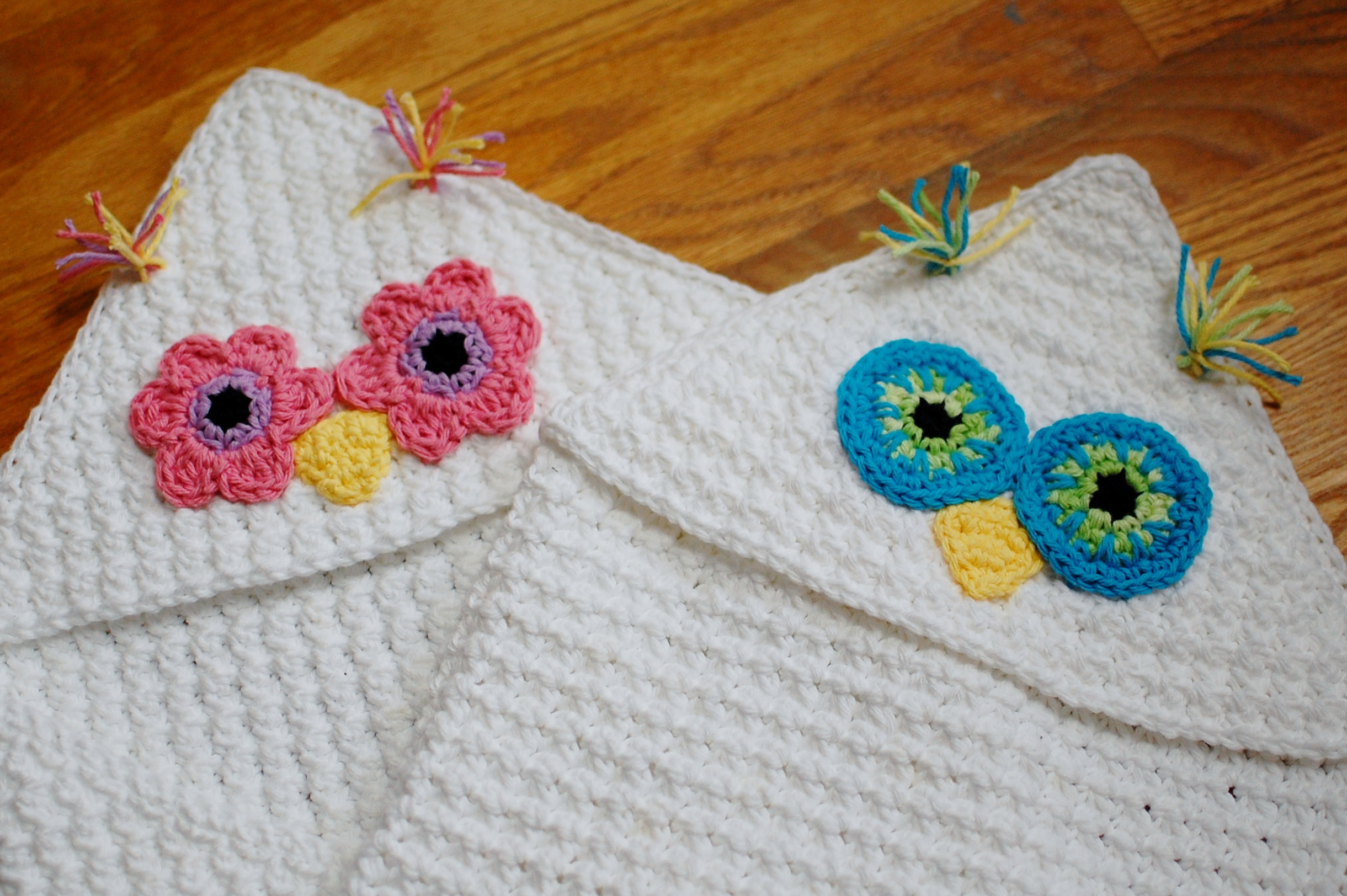 Hooded Owl Blanket Awesome Crochet Pattern Owl Hooded Baby towel Also Makes A Of New 47 Images Hooded Owl Blanket