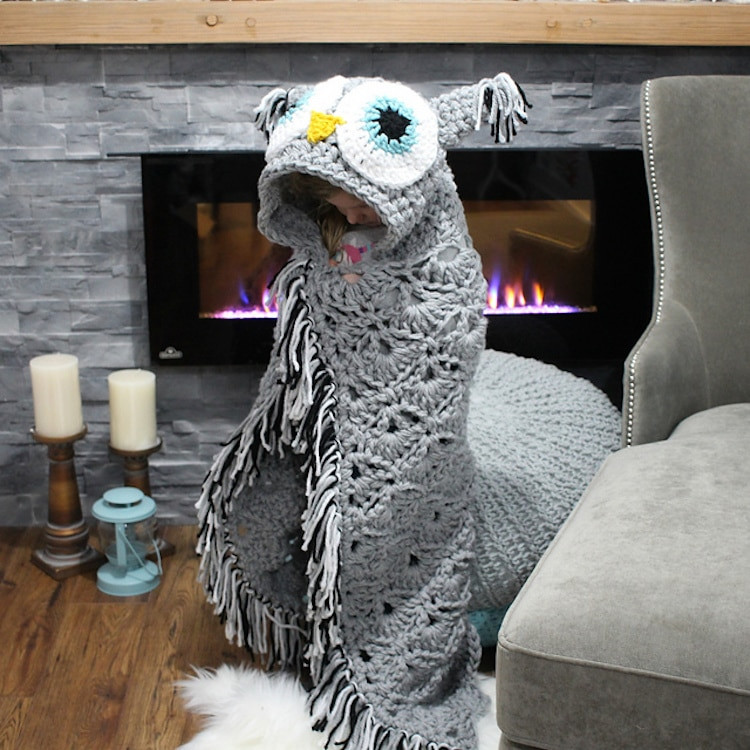 Hooded Owl Blanket Best Of Diy Owl Blanket Will Turn You Into A Cozy Bird On the Couch Of New 47 Images Hooded Owl Blanket