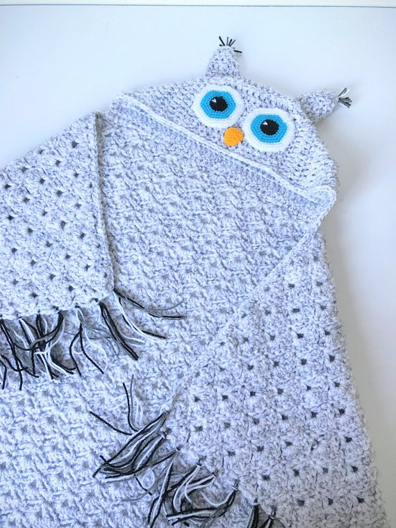 Hooded Owl Blanket Fresh Crochet Hooded Owl Blanket Chunky Wrap Handmade 43x Of New 47 Images Hooded Owl Blanket