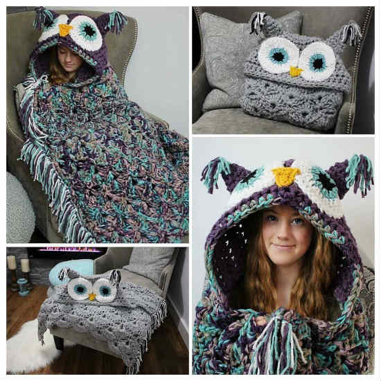 Crochet Owl Hooded Blanket Pattern – iSeeiDoiMake