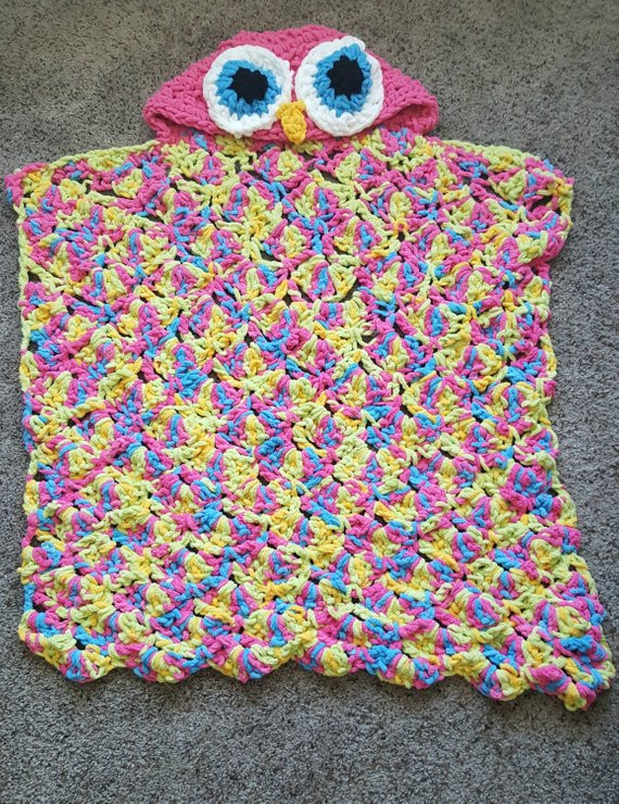 Hooded Owl Blanket Fresh Items Similar to Hooded Owl Blanket Owl Blanket Crochet Of New 47 Images Hooded Owl Blanket