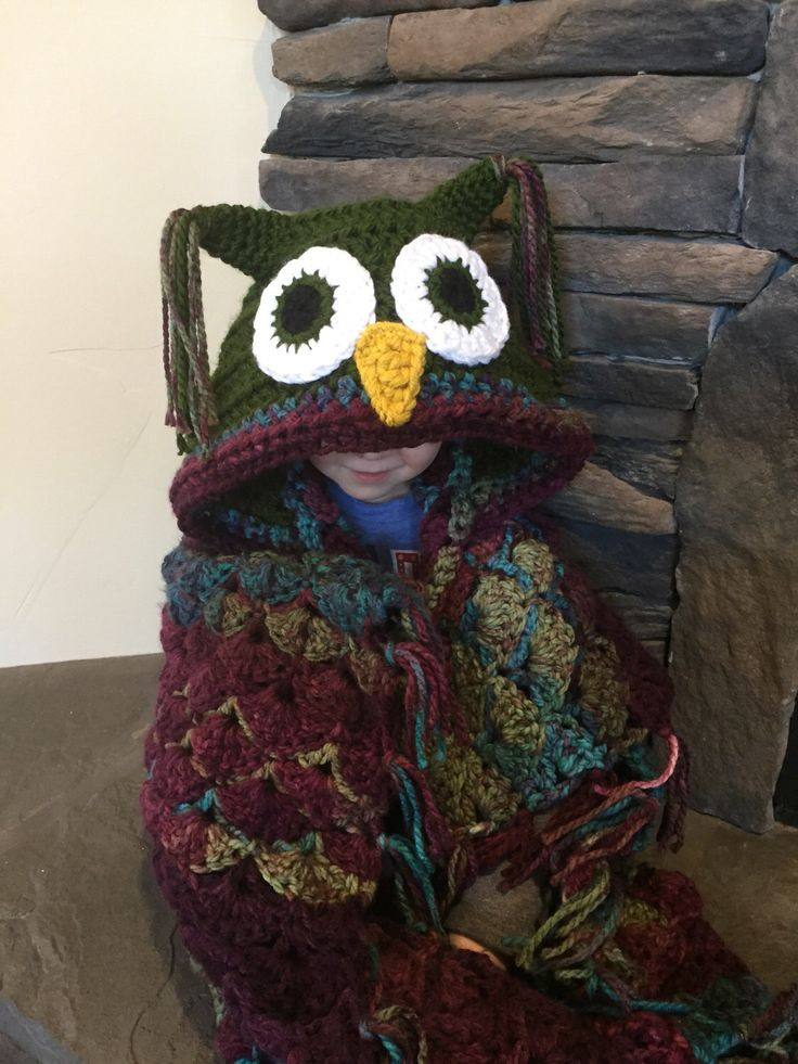 Hooded Owl Blanket Unique Best 25 Crochet Owl Blanket Ideas On Pinterest Of New 47 Images Hooded Owl Blanket