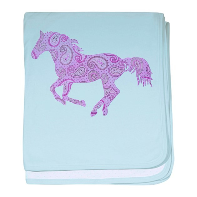 Horse Baby Blanket Beautiful Purple Paisley Horse Baby Blanket by Paintingpony Of Unique 48 Ideas Horse Baby Blanket