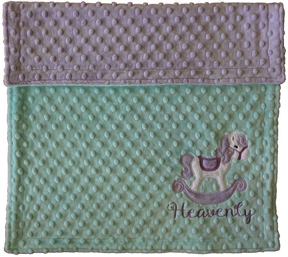 Horse Baby Blanket Best Of Rocking Horse Minky Blanket Baby Girl Lilac and by Of Unique 48 Ideas Horse Baby Blanket