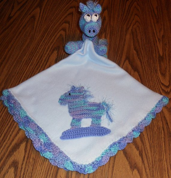Horse Baby Blanket Elegant Items Similar to Blue Baby Receiving Blanket with Crochet Of Unique 48 Ideas Horse Baby Blanket