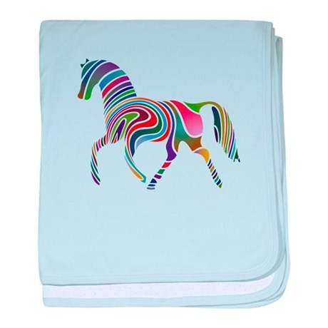 Rainbow Horse baby blanket by AnimalLoverGifts