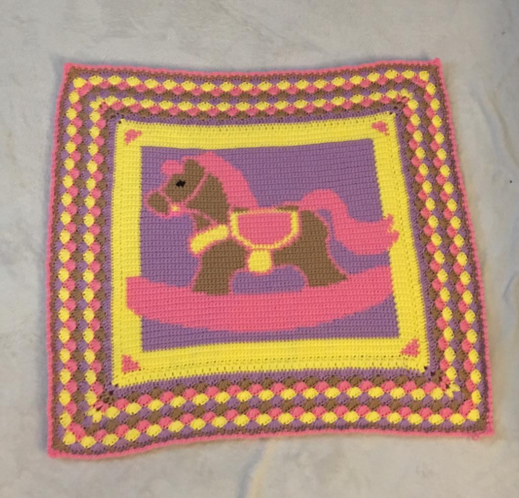 Horse Baby Blanket Lovely You Have to See Rocking Horse Baby Blanket by Gin Creates Of Unique 48 Ideas Horse Baby Blanket