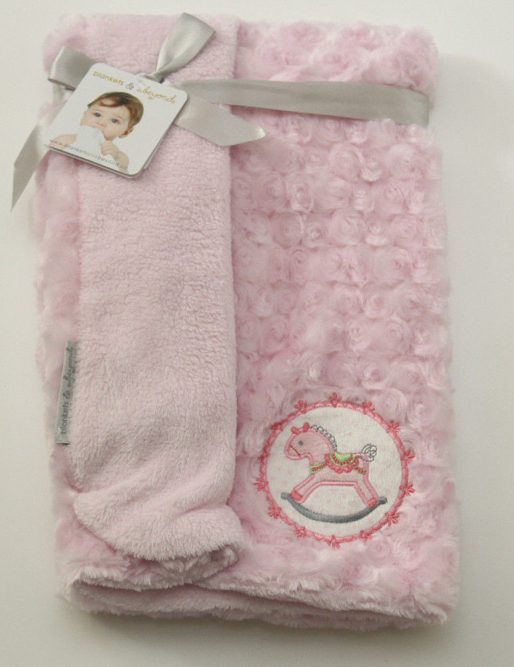 Horse Baby Blanket New Blankets & Beyond Pink Baby Girl Blanket Rocking Horse Of Unique 48 Ideas Horse Baby Blanket