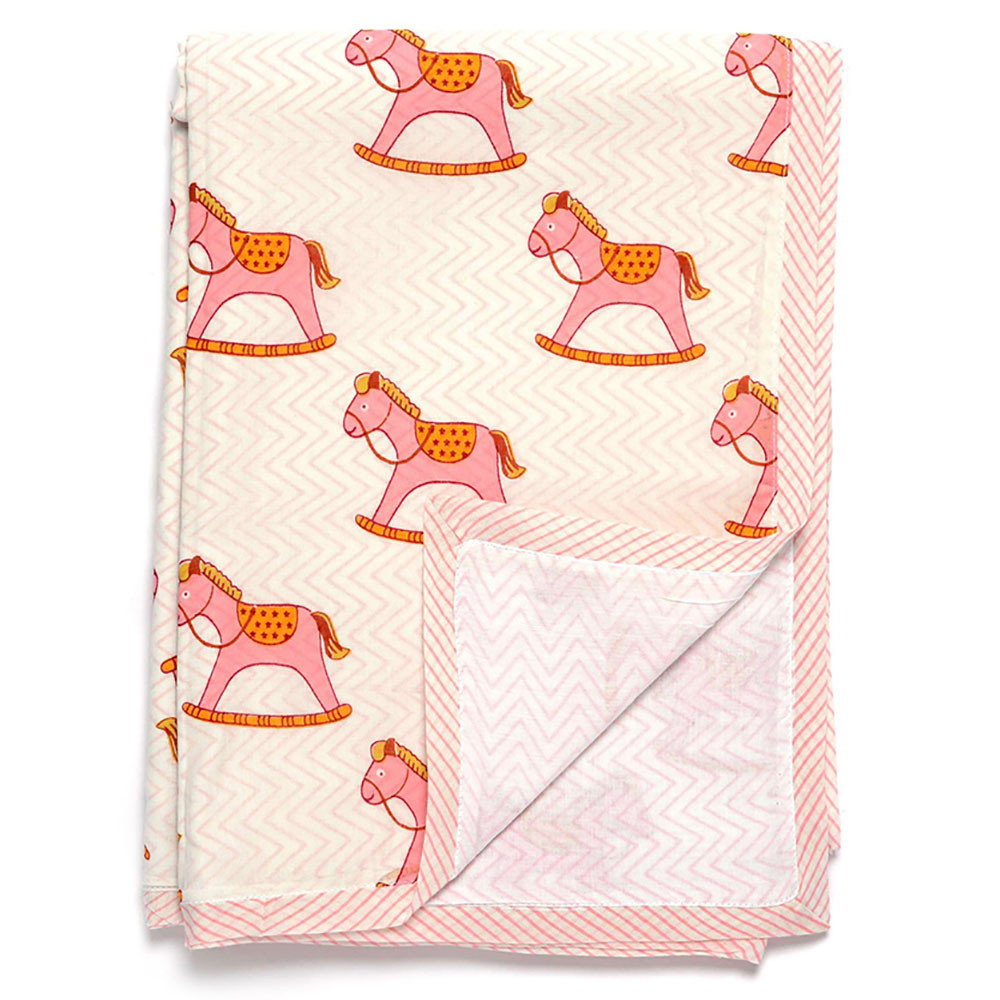 Horse Baby Blanket New Pink Rocking Horse Baby Blanket by Darzzi Seven Colonial Of Unique 48 Ideas Horse Baby Blanket