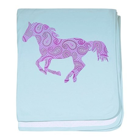 Horse Baby Blanket New Purple Paisley Horse Baby Blanket by Paintingpony Of Unique 48 Ideas Horse Baby Blanket