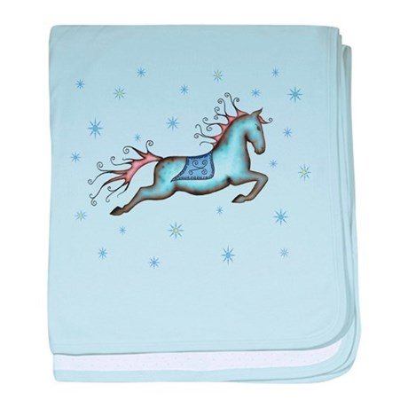 Horse Baby Blanket Unique Starry Sky Horse Baby Blanket by Fantasyhorseart Of Unique 48 Ideas Horse Baby Blanket