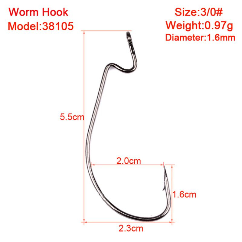 I Hook Size Beautiful Lot 50pc Worm Hook Jig Big Fishing Hooks Black Fishhook Of Unique 41 Models I Hook Size