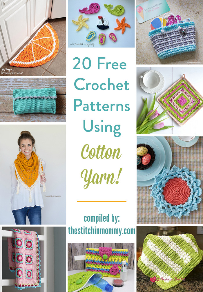 I Love This Cotton Yarn Crochet Patterns Luxury 20 Free Crochet Patterns Using Cotton Yarn the Stitchin Of Delightful 43 Ideas I Love This Cotton Yarn Crochet Patterns