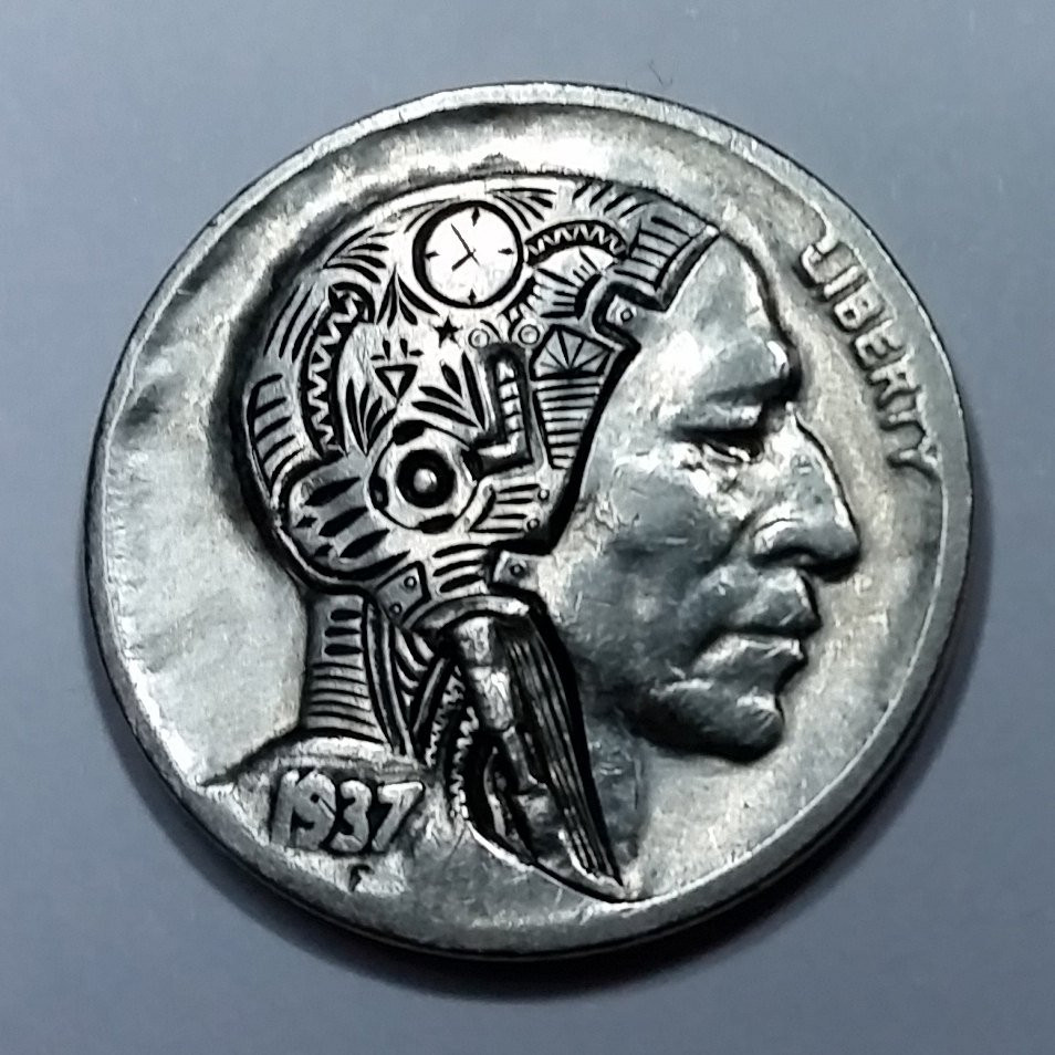 Indian Head Nickel Lovely 1937 D Indian Head Nickel Featuring A Hand Carved android Of Gorgeous 49 Photos Indian Head Nickel