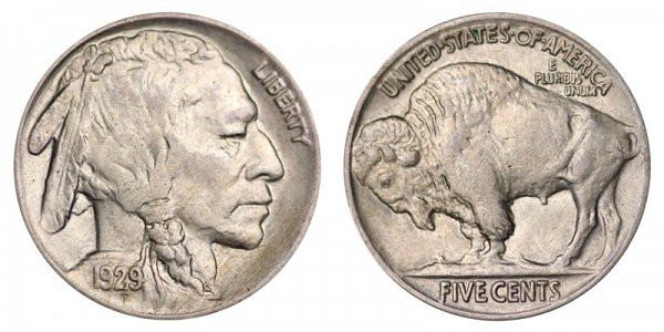 1929 P Buffalo Nickels Indian Head Nickel Line Type